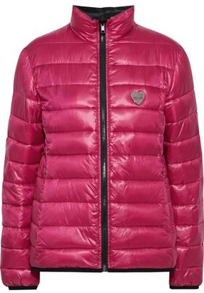 Love Moschino Reversible Appliqued Quilted Shell Jacket