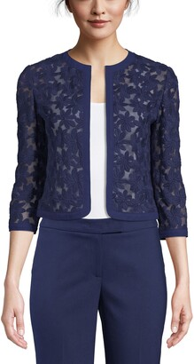 Anne Klein Lace Open Front Cardigan