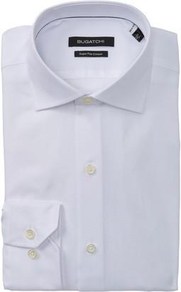 Bugatchi Solid Shaped Fit Dress Shirt