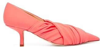 Midnight 00 Point-toe Kitten-heel Pumps - Womens - Light Pink