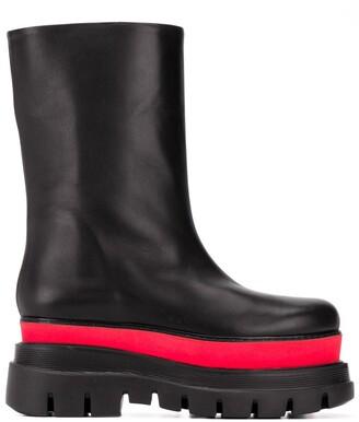 MSGM Panelled Platform-Sole Boots