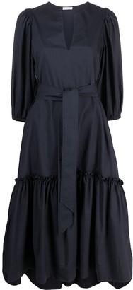P.A.R.O.S.H. Short-Sleeve Cotton Midi Dress