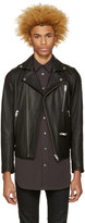 Diesel Black Leather L-Gibson-1 Biker Jacket