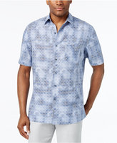 Tasso Elba Men's Linen Geo-Print Short-Sleeve Shirt, Only at Macy;s