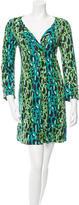 Diane von Furstenberg Leopard Print Silk Dress