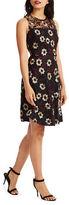 Donna Morgan Sleeveless Embroidered Dress