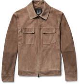 Dunhill Suede Blouson Jacket - Mushroom