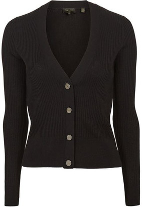 Ted Baker Raeyaa Button Front V Neck Cardigan