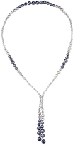 Bliss Silvertone & Freshwater Pearl Endless Lariat Necklace