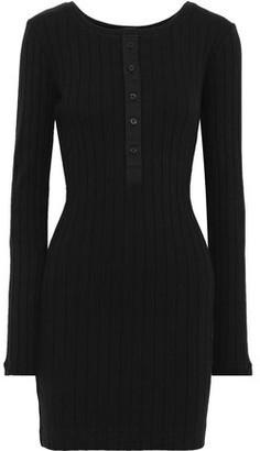 Current/Elliott The Heather Ribbed Cotton-jersey Mini Dress