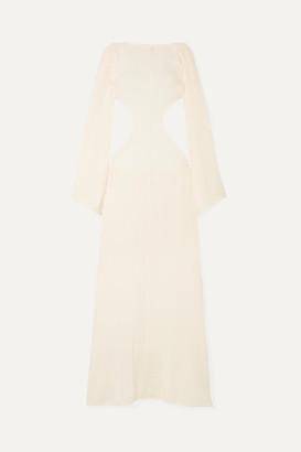 Cult Gaia Kamira Open-back Cotton-blend Maxi Dress - Cream