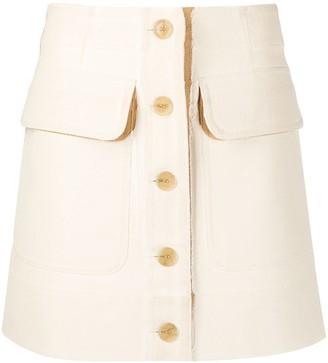 Acne Studios Two-Tone Buttoned Mini Skirt