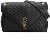 Saint Laurent Large Soft Envelope Monogram bag - women - Leather - One Size