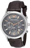Emporio Armani Men's AR2513 Dress Black Leather Quartz Watch