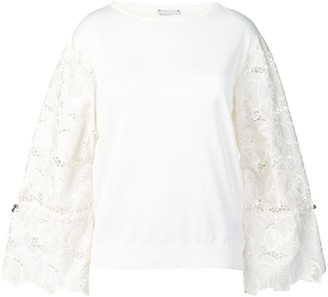 Moncler Embroidered Floral Sleeves Jumper