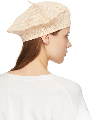 Y's Off-White Knit Beret