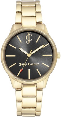 Juicy Couture Goldtone Watch w/ Black Dial