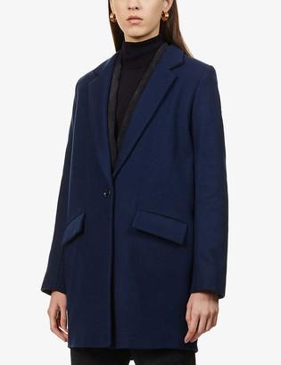Sessun Justin notch-lapel wool-blend coat