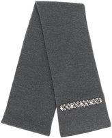 No.21 embellished knit scarf - women - Silk/Virgin Wool/metal/glass - One Size