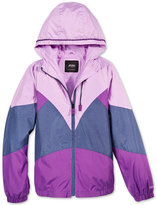 London Fog Hooded Colorblocked Jacket, Big Girls (7-16)