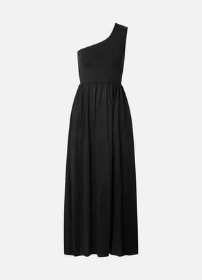 Eres Pop Bay Button-detailed One-shoulder Cotton-jersey Dress - Black