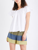 Opening Ceremony Flutter stretch-cotton top