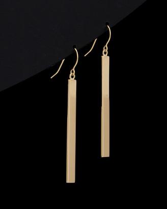 Italian Gold 14K Bar Drop Earrings
