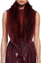 Lanvin Fox Fur Stole, Burgundy
