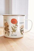 Urban Outfitters Enamelware Botanical Mug