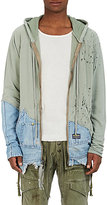 Greg Lauren Men's 50/50 Distressed Cotton Hoodie