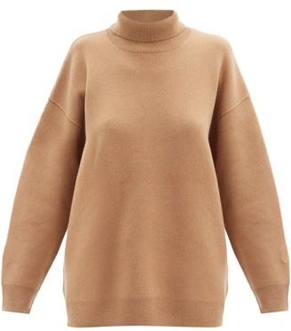 Burberry Farah Roll-neck Cashmere-blend Sweater - Camel