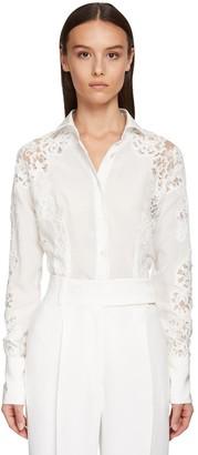 Ermanno Scervino Silk Satin & Lace Shirt