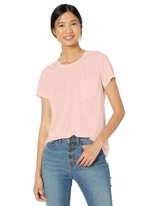 Goodthreads Washed Jersey Cotton Pocket Crewneck T-shirt Black US S (EU S - M)