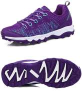 Coo & Mo Women's Flex Breathable Lace-up Athletic Running Shoes Casual Outdoor Sneakers 8 B(M)US-39