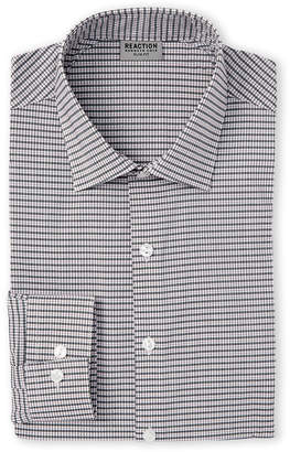 Kenneth Cole Reaction Cherry Check Slim Fit Dress Shirt