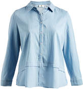 Caribbean Joe Chambray Button-Up Top - Plus
