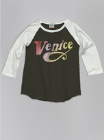 Junk Food Clothing Kids Girls Venice Raglan-black Wash/sugar-l