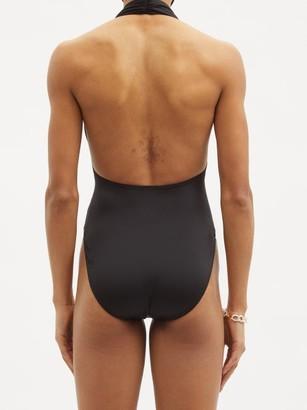 Norma Kamali Mio Halterneck Swimsuit - Black
