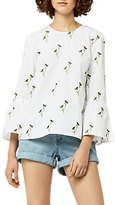 Warehouse Iris Embroidered Top