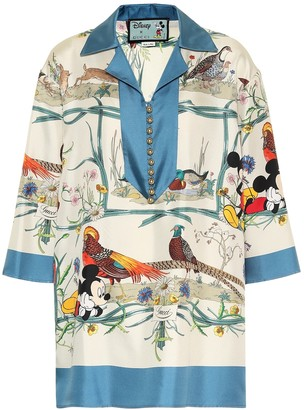 Gucci x Disney silk-twill shirt