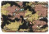 Coohem knit tweed camouflage card-case