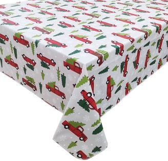 St. Nicholas Square Holiday Truck Toss Vinyl Tablecloth