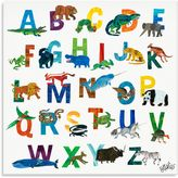 Oopsy Daisy Fine Art For Kids Too The World of Eric Carle Boys A-Z Canvas Wall Art
