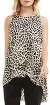 Vince Camuto Petite Women's Leopard Song High/low Blouse