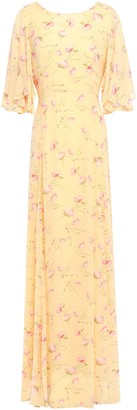 By Ti Mo Bytimo Ruffled Floral-print Fil Coupe Woven Maxi Dress