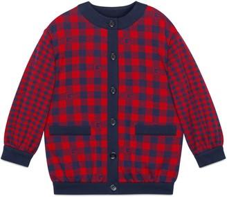 Gucci Children's Square G check cotton jacket