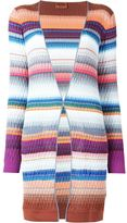 Missoni knit pattern striped cardigan - women - Cotton/Polyester/Rayon - 40