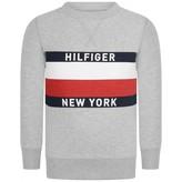 Tommy Hilfiger Tommy HilfigerBoys Grey Logo Print Sweater