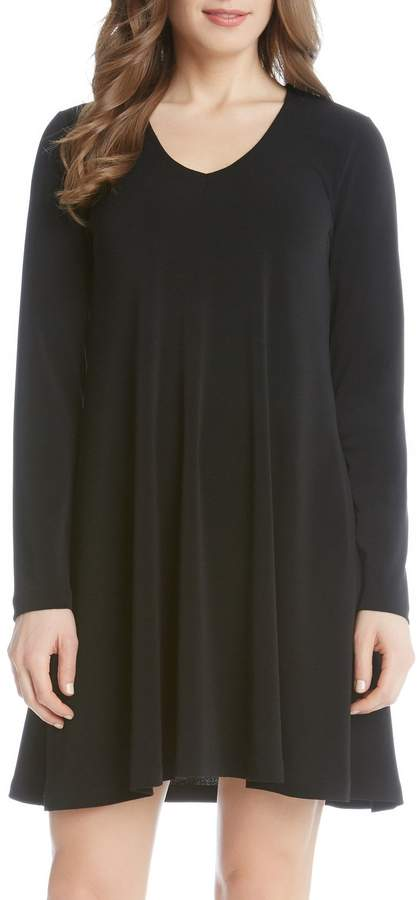 Karen Kane 'Taylor' Long Sleeve A-Line Dress