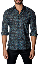 Jared Lang Printed Cotton Sportshirt